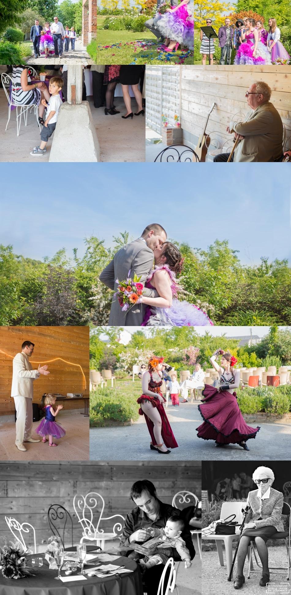 Mariage coloré au Cellier du Val Boury