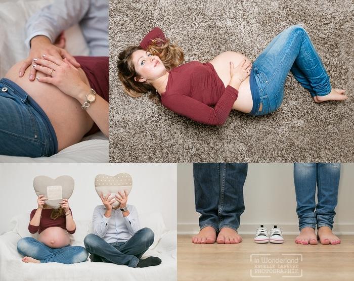 Séance photo grossesse à domicile à Boulogne, 92