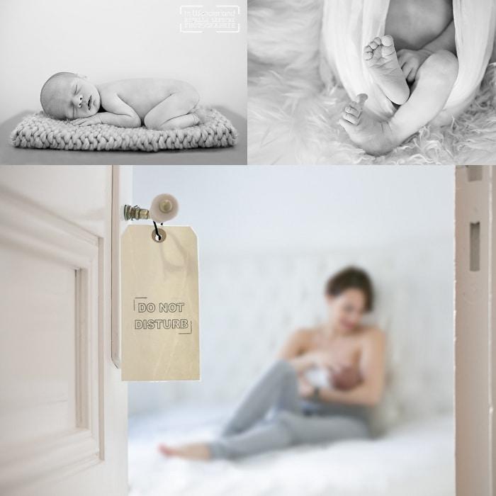 photos de naissance avec bébé et maman