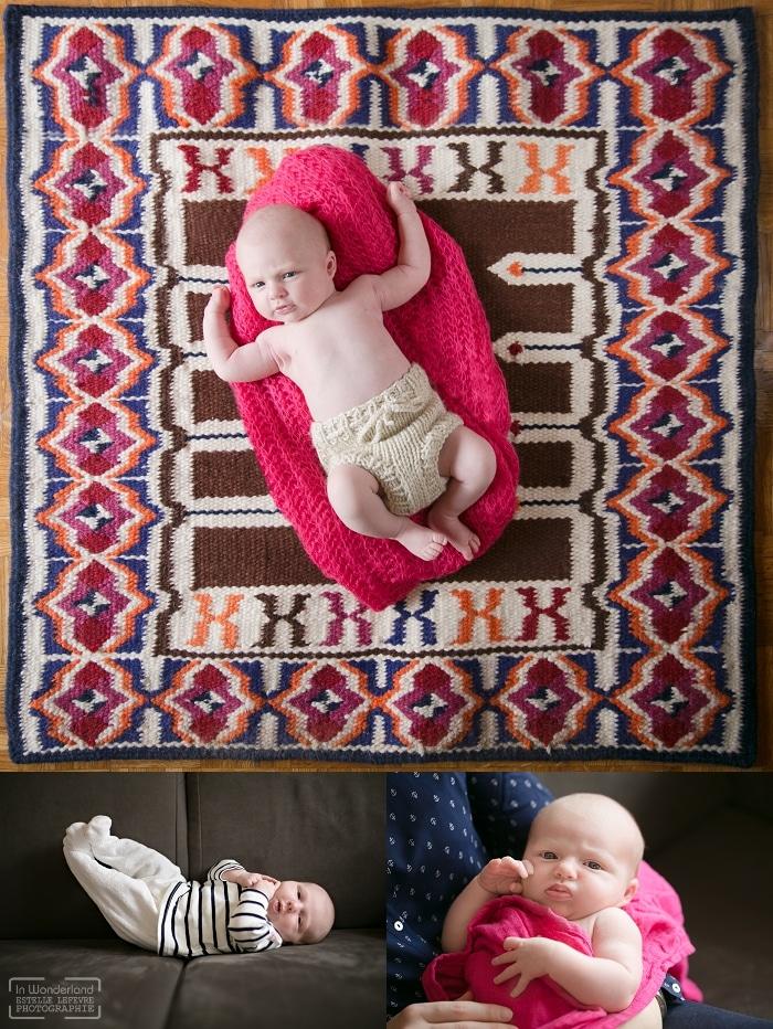 bébé allongé sur le tapis