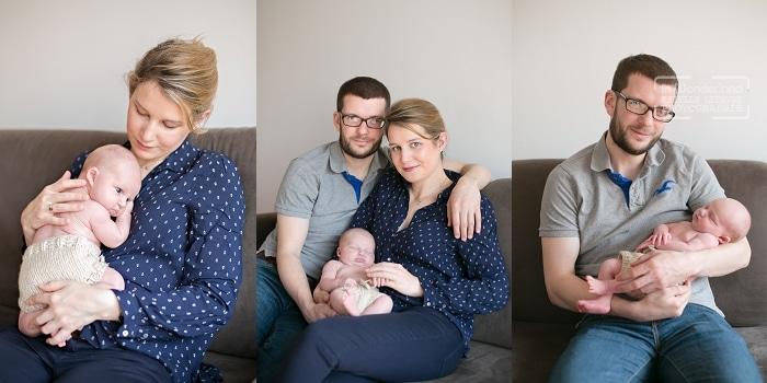 bébé en famille dans le salon