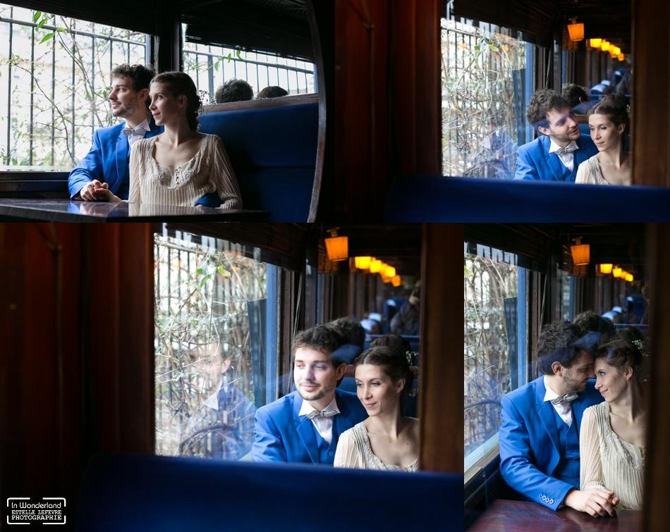 photographe mariage le wagon bleu A Paris
