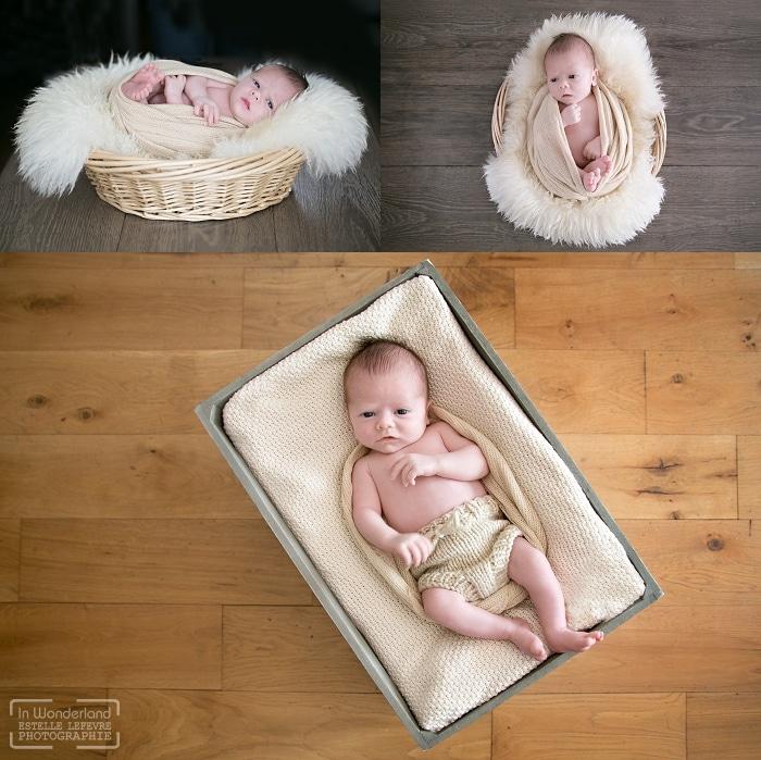 Photo de bébé dans son panier