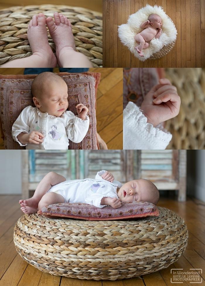 séance photo de naissance à domicile pour bébé à Asnières sur seine