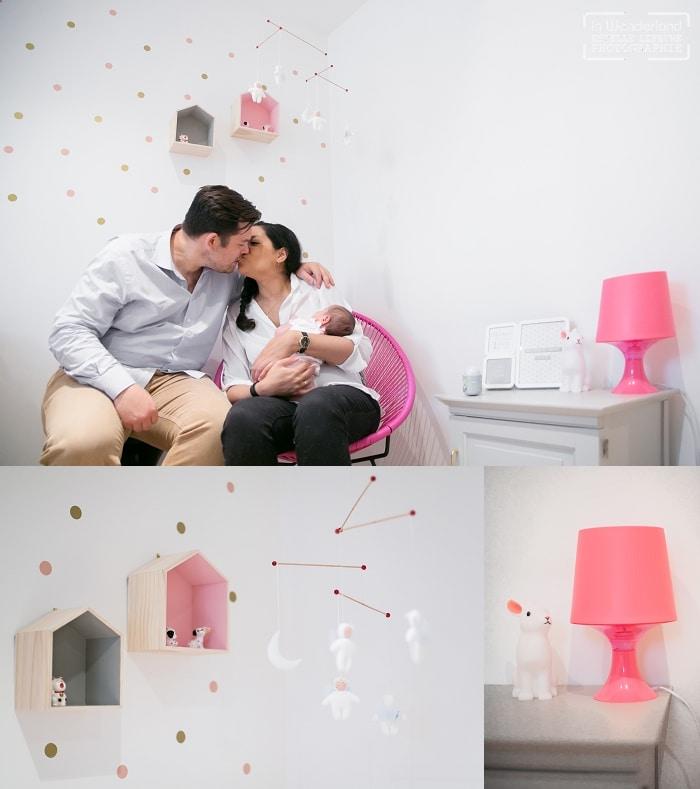 Séance photo de naissance et photos de famille à domicile à Puteaux