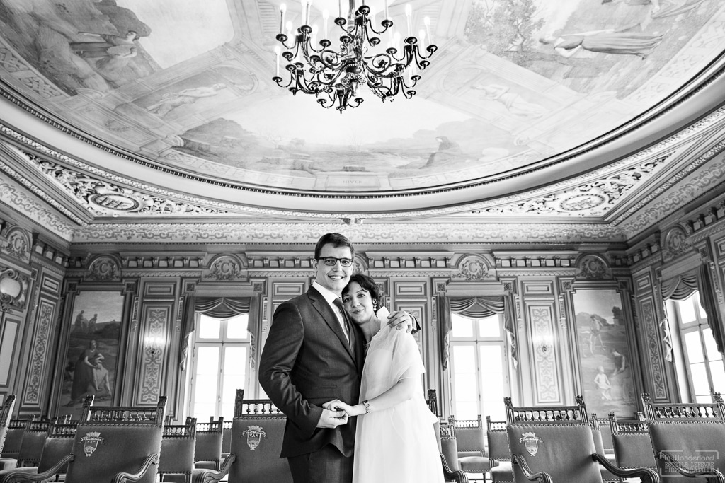 Photographe mariage civil à la mairie de Courbevoie 92
