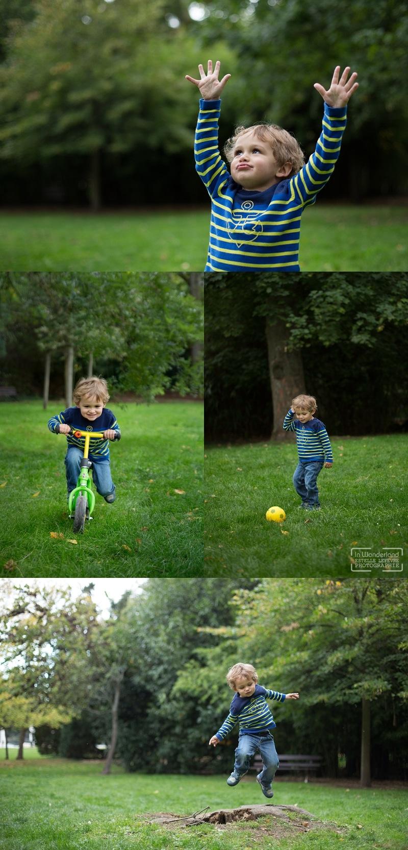 Photos d'enfants au parc à St Cloud 92