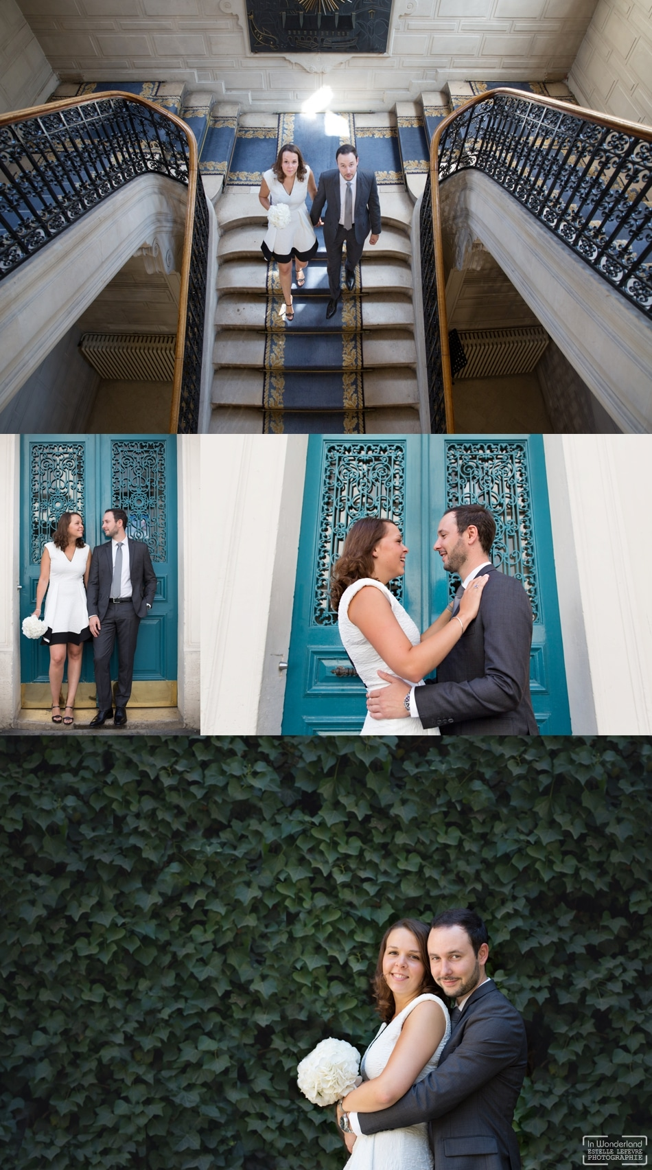 Mariage civil photos de couple dans le Mariais à Paris