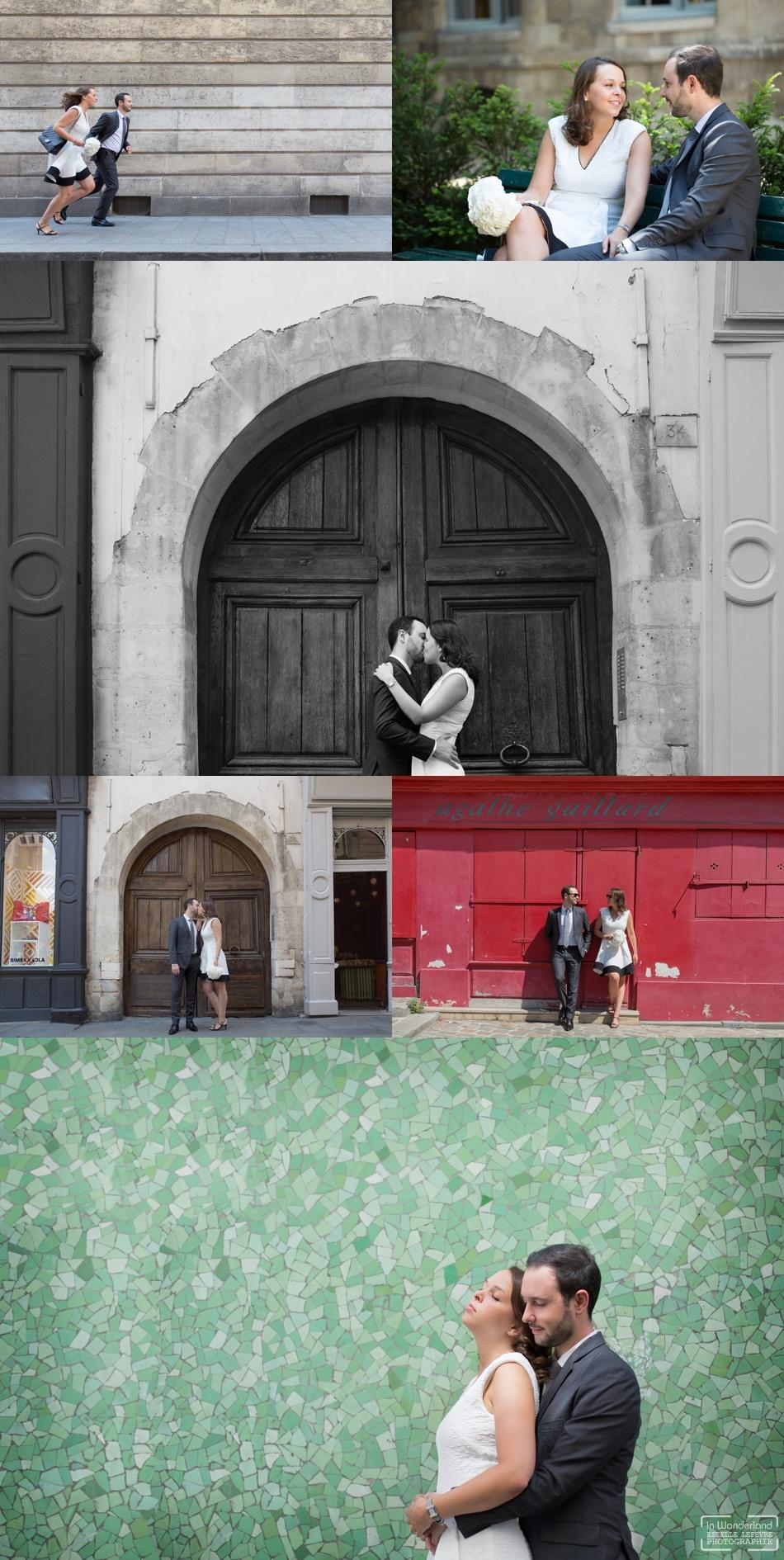 Mariage civil photos de couple dans le Mariais à Paris