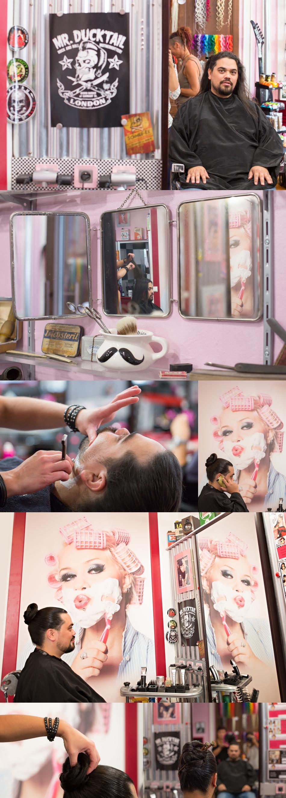 Photographe de mariage original coiffeur prise de tete le Mans