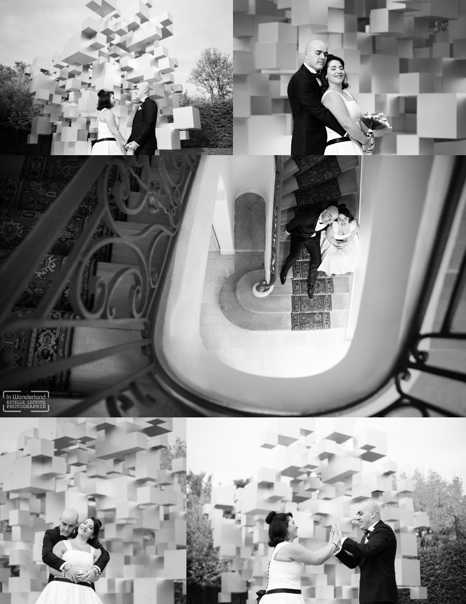 Photographe de mariage original au Chateau d'Asnières sur Seine