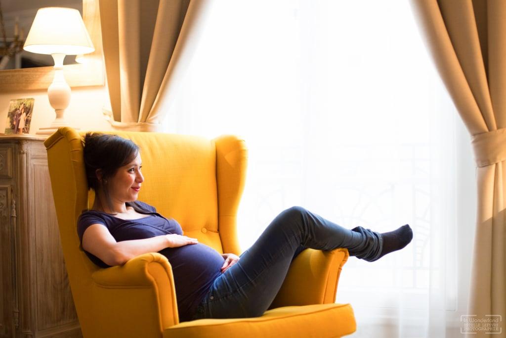 Photos de grossesse photographe à domicile Asnières sur Seine