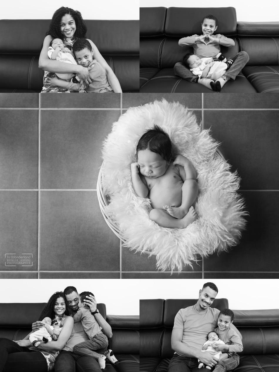 Photos de naissance photographe à domicile à Levallois 92