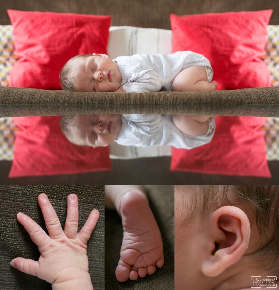 Photos de naissance photographe bébé à domicile à Paris