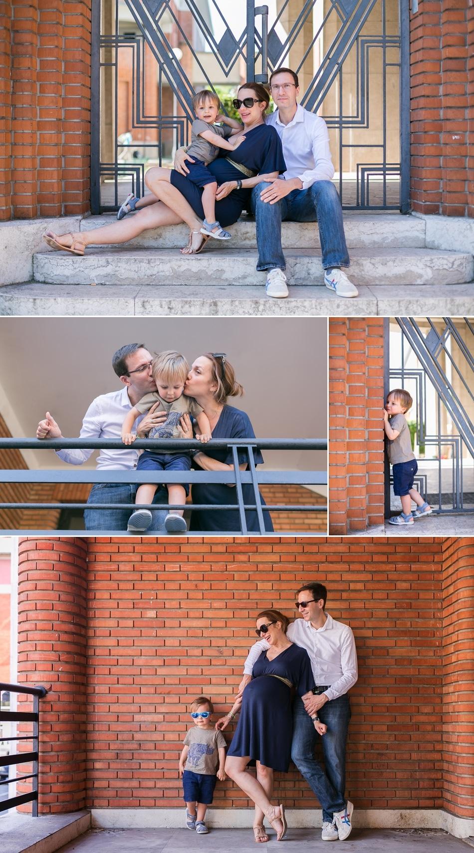 Photos de grossesse en famille à Suresnes