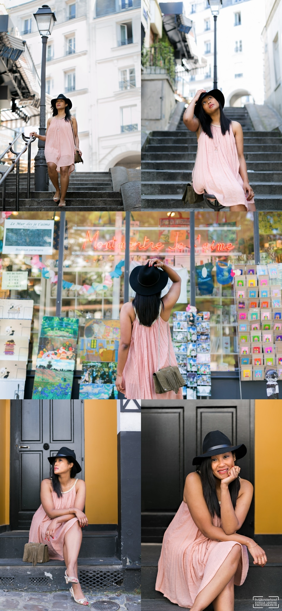 Séance photo portrait solo à Paris Montmartre