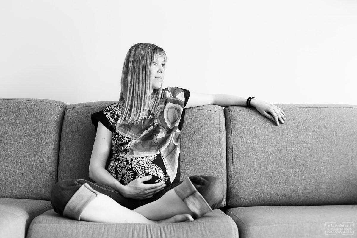 Séance photo grossesse photographe à domicile Asnières sur Seine