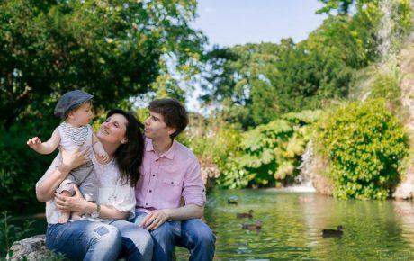 Séance photo en famille au Jardin de Bagatelle