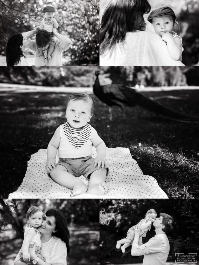 Photos de famille aux jardins de bagatelle