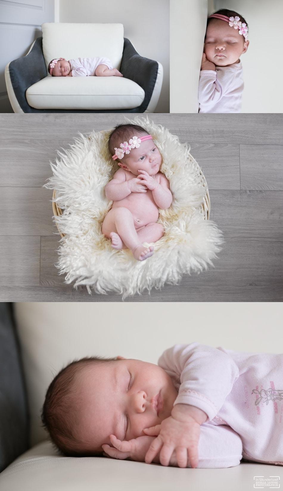 Séance photo de naissance a domicile photographe Eaubonne Val d'Oise