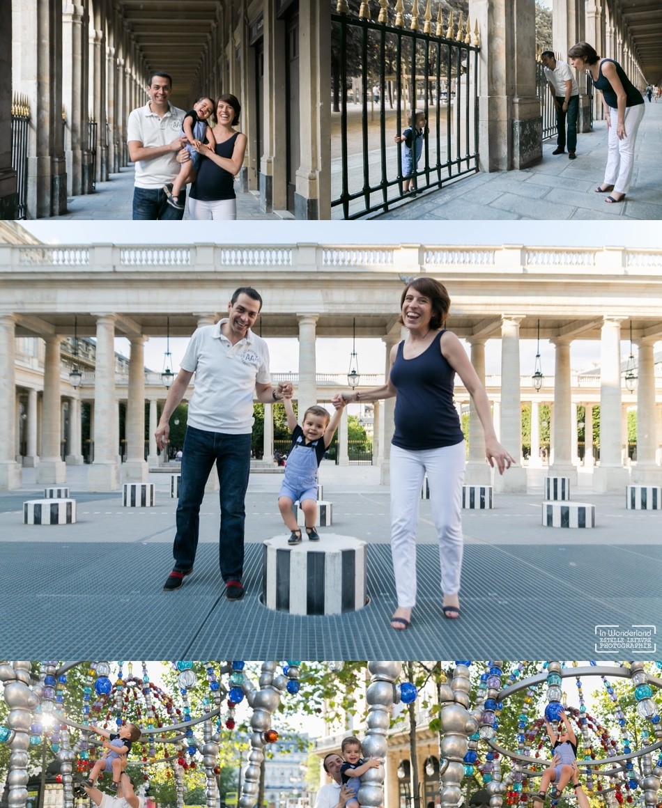 Séance photo en famille au Palais Royal à Paris