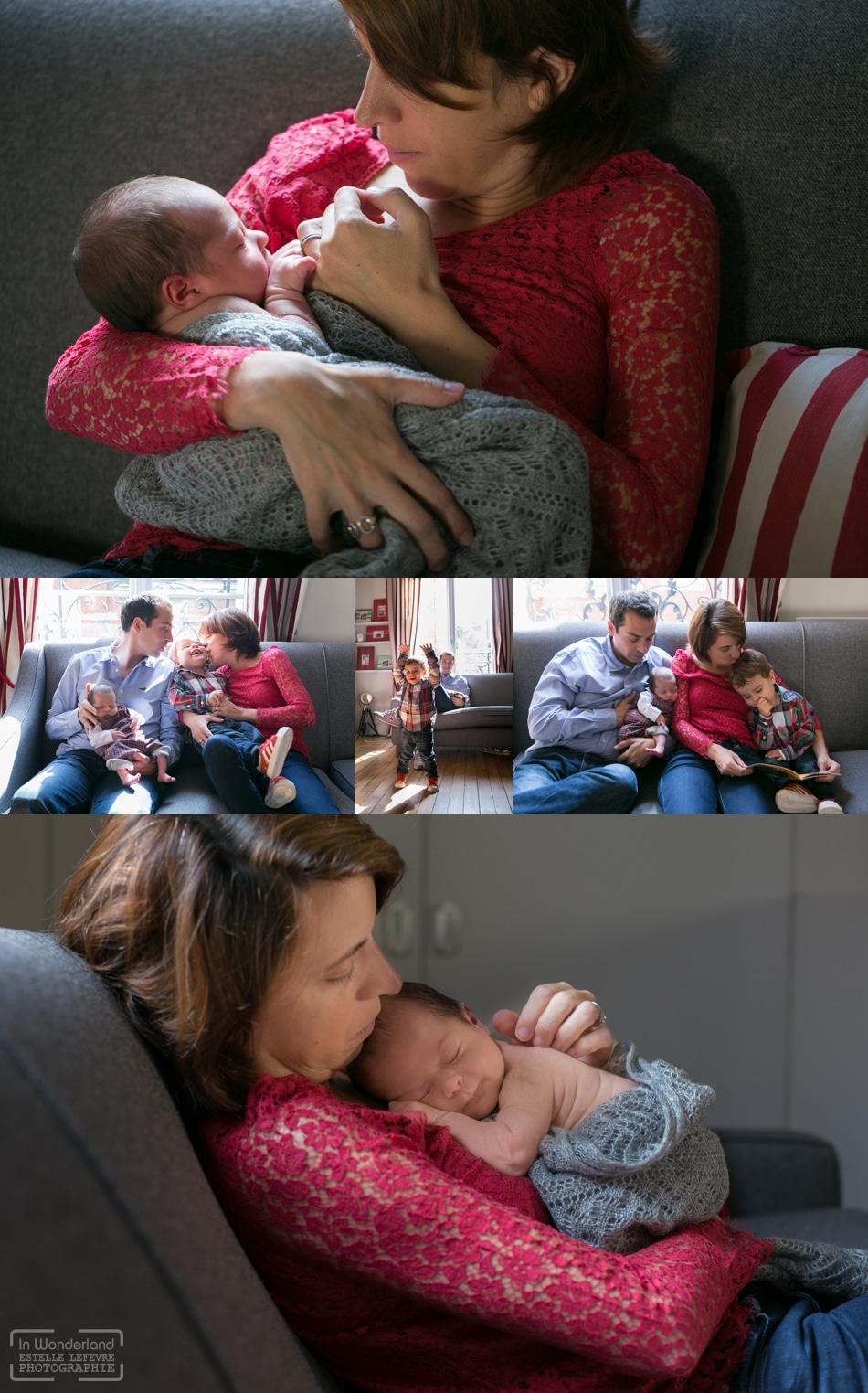 Photos de naissance à domicile à Asnières sur Seine