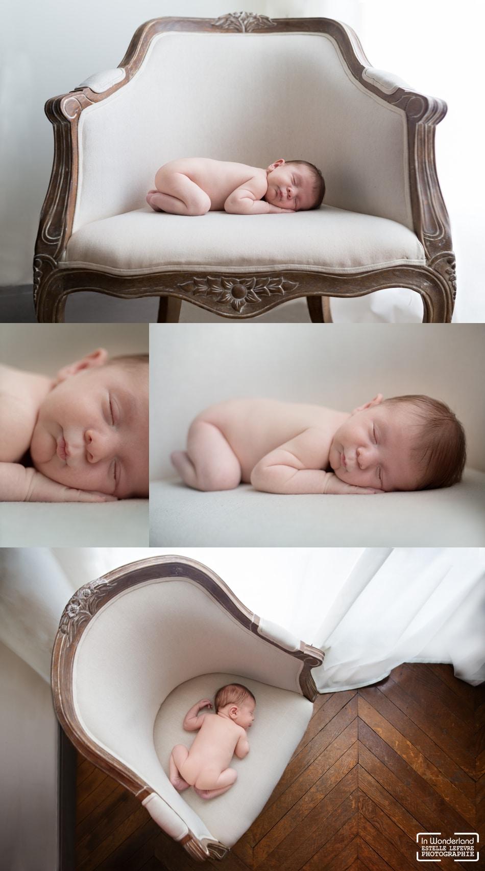 Photos de naissance à domicile en famille photographe Paris