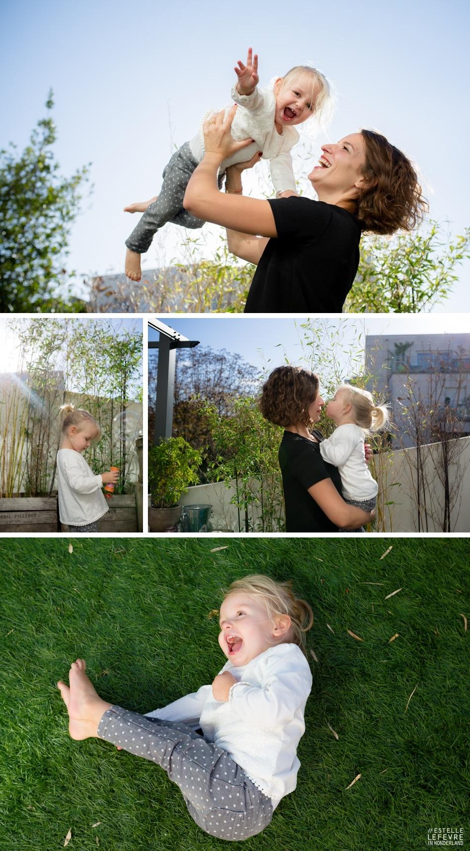 Séance photo de famille mère fille à domicile à Asnières