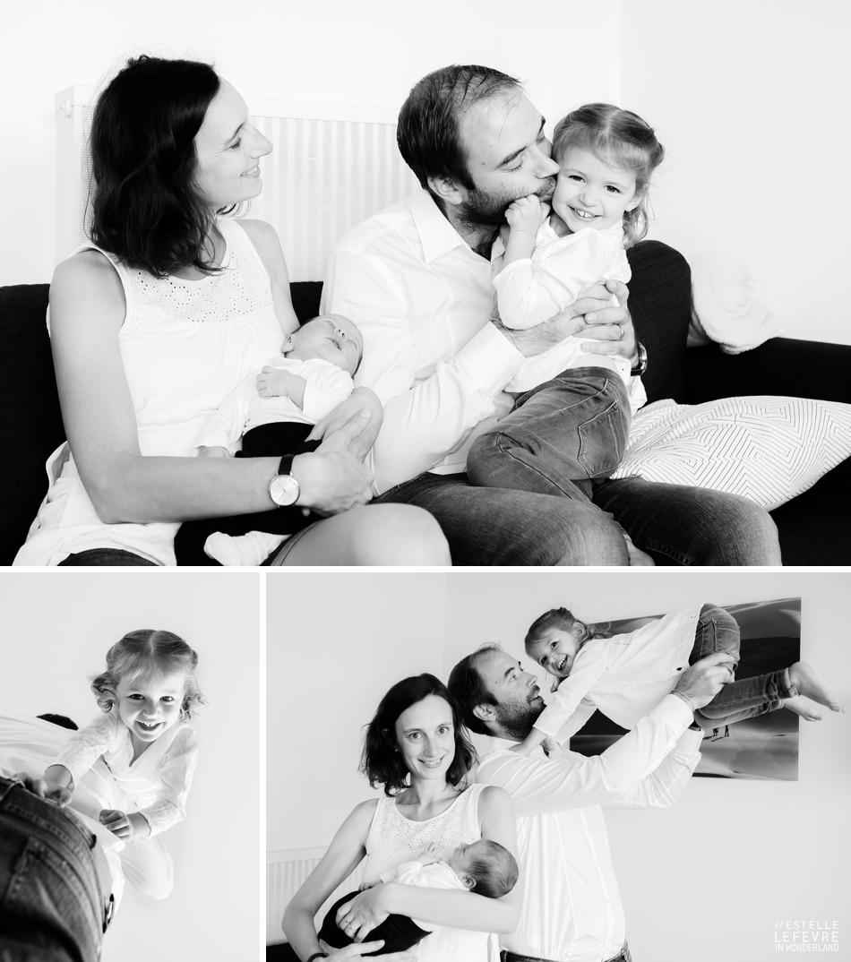 Séance photo de naissance à domicile photographe à Courbevoie