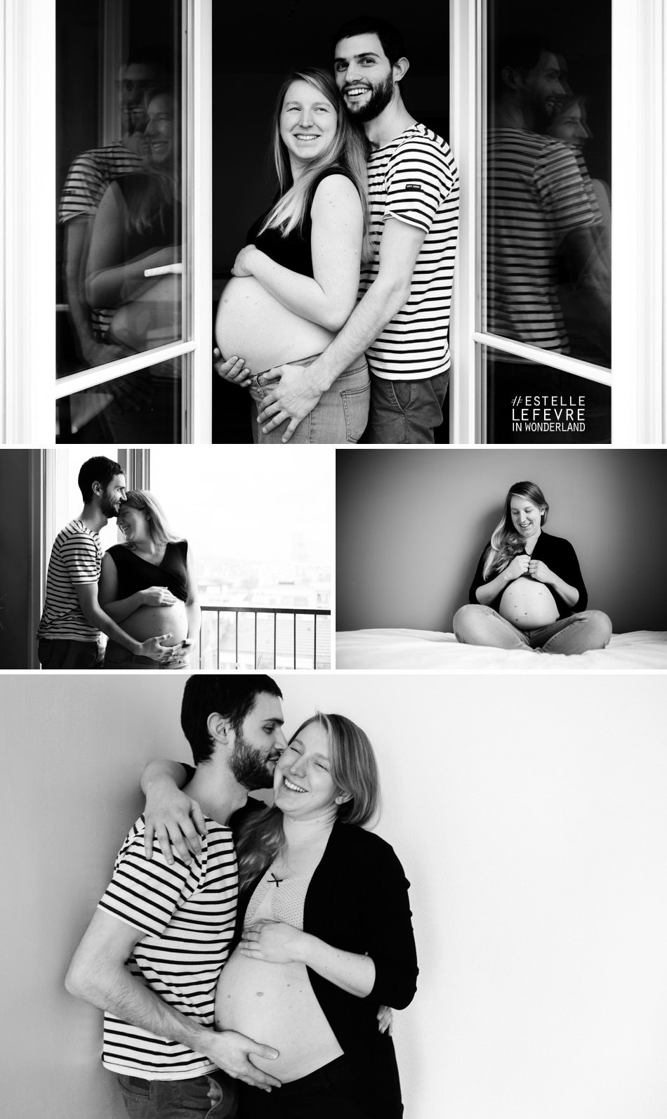 Photos de grossesse à domicile photographe à Asnières sur Seine