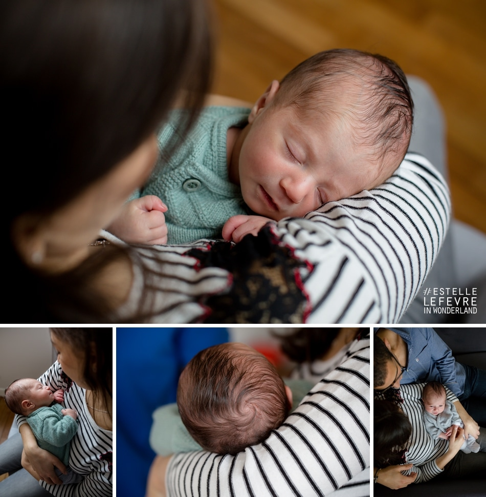 Photos de bébé à domicile photographe de naissance à Asnières sur Seine