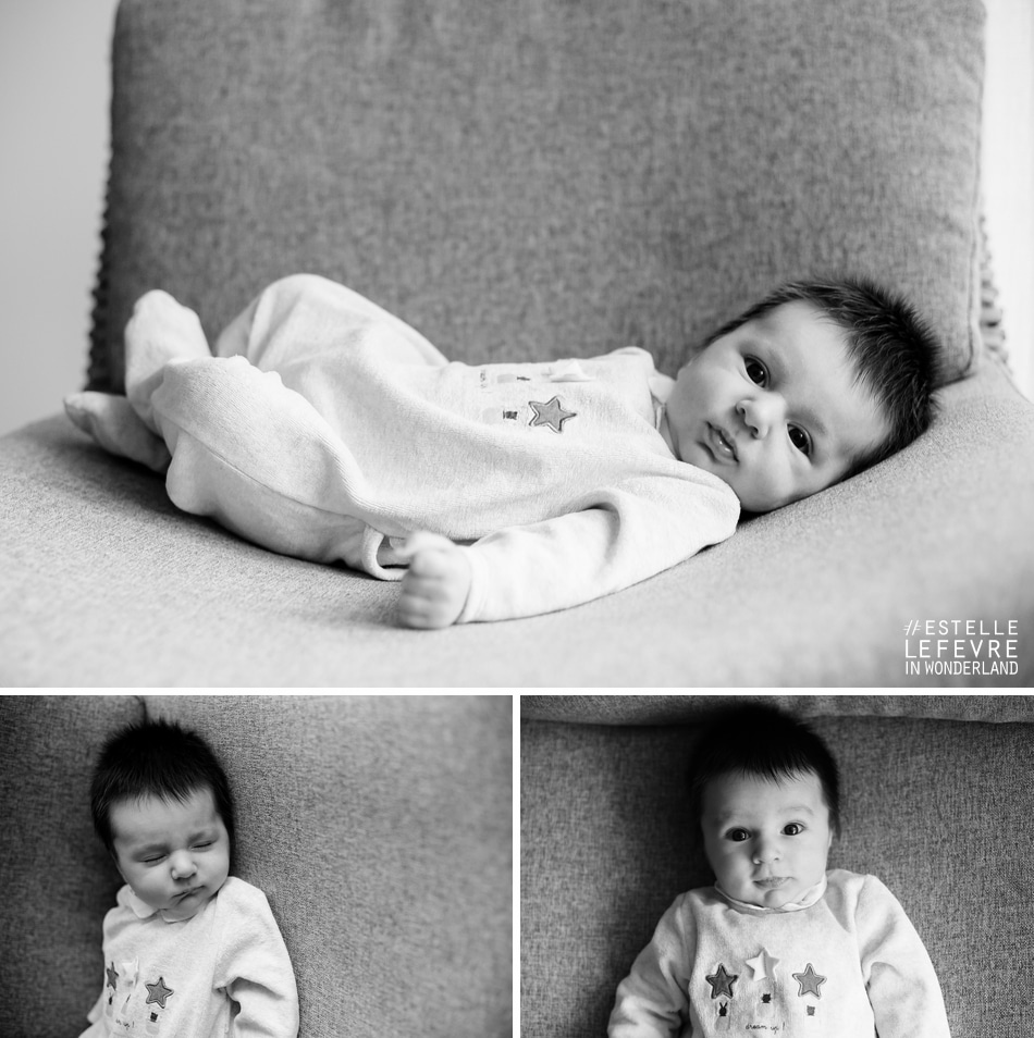 Séance photo de naissance à domicile photographe bébé à Levallois