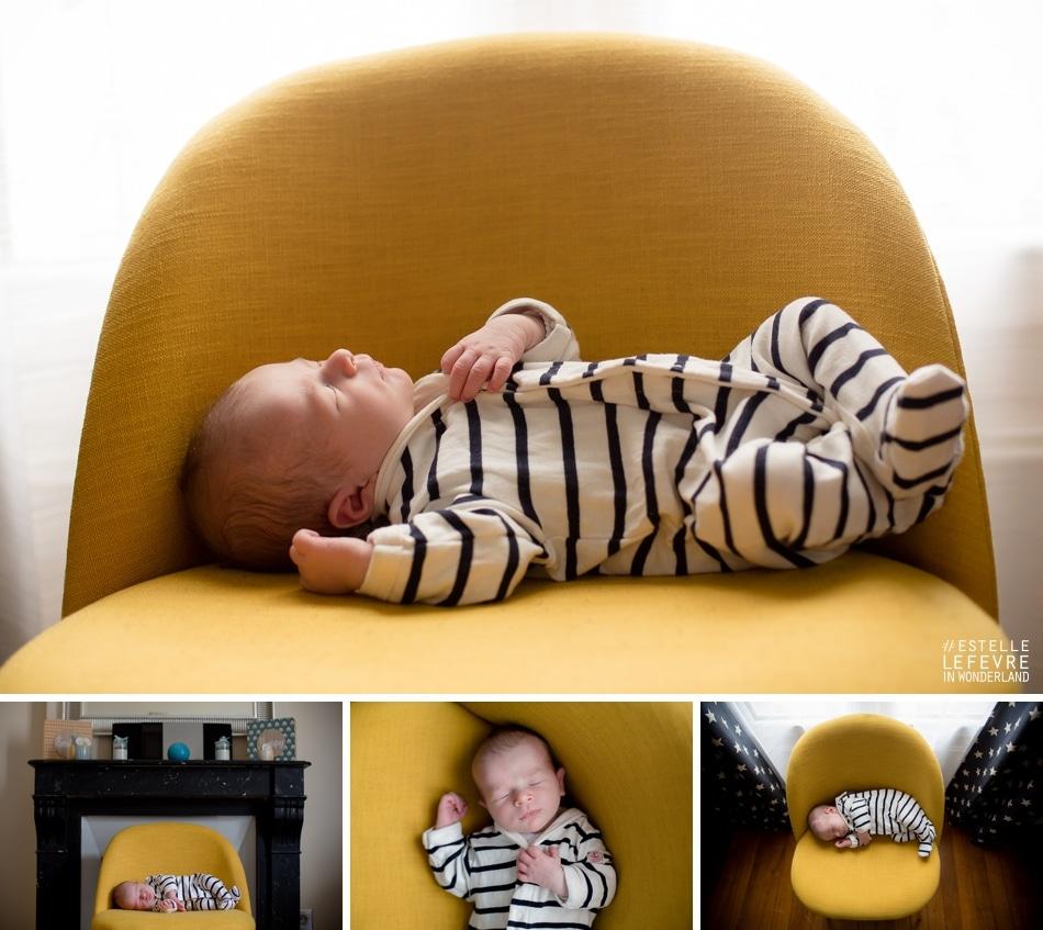 Séance photo de naissance photographe bébé à domicile à Enghien