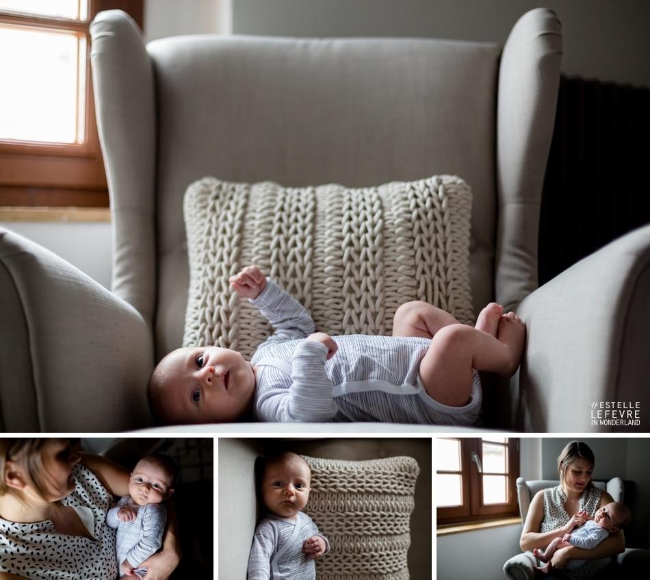 Photographe Levallois photos de naissance à domicile