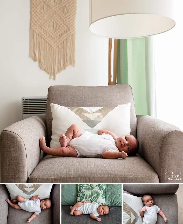 Photos de bébé à domicile photographe à Levallois