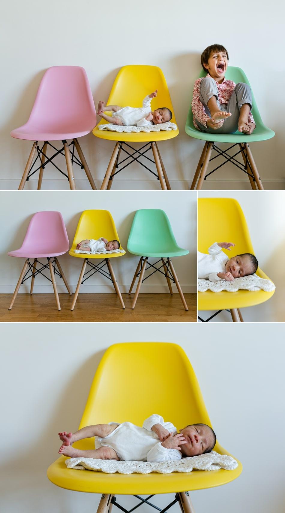 Photos de bébé à domicile photographe naissance à Levallois