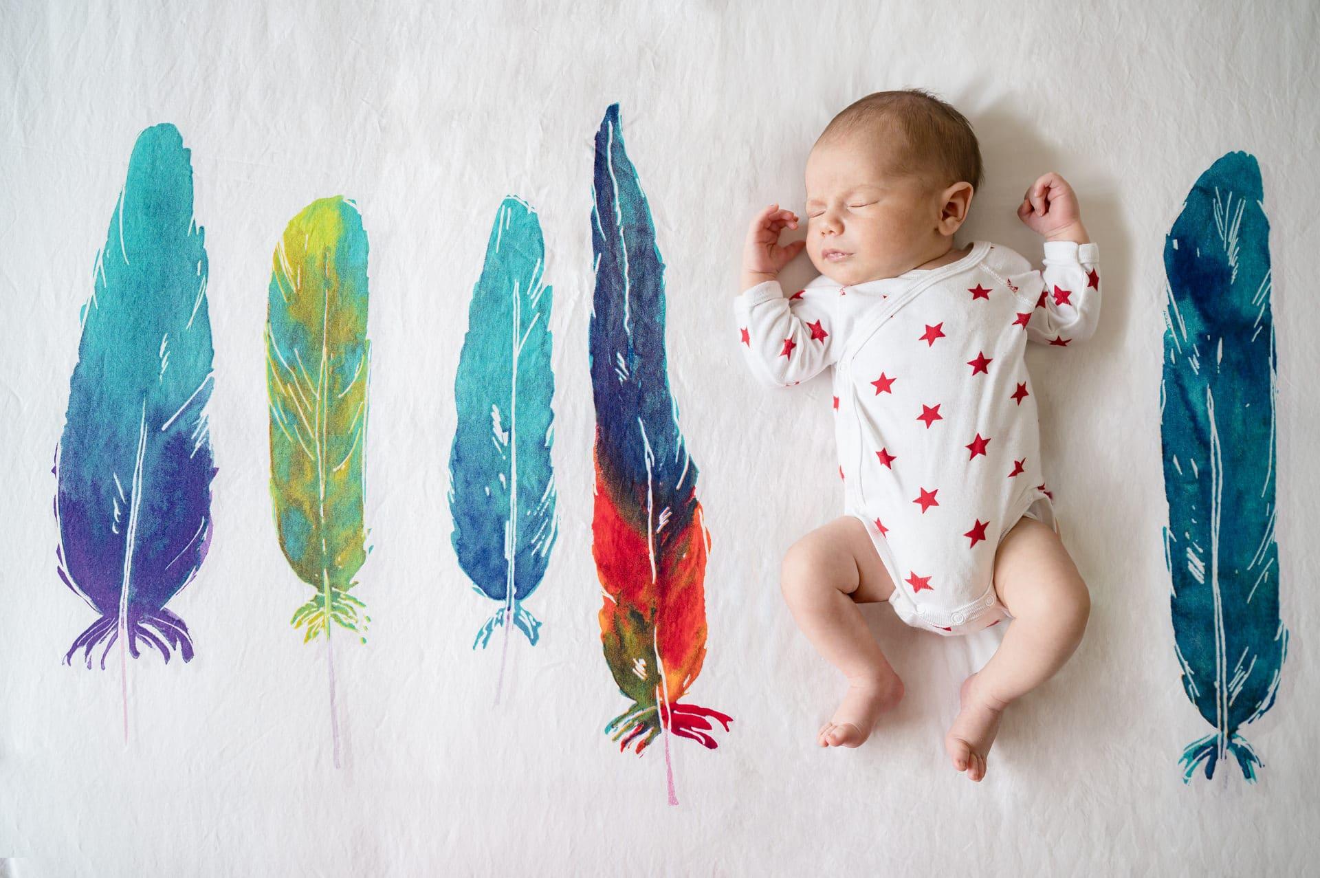 Photographe naissance bébé domicile Colombes
